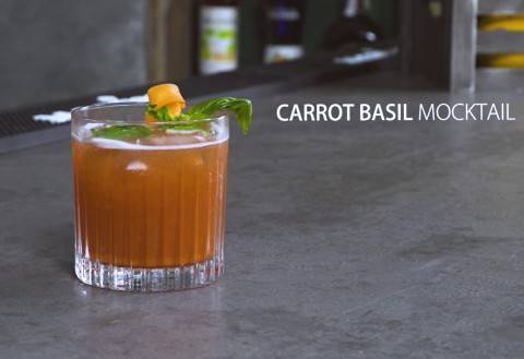 Carrot Basil Mocktail