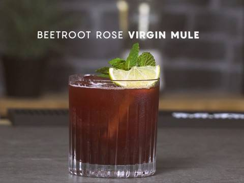 Beetroot Rose Virgin Mule