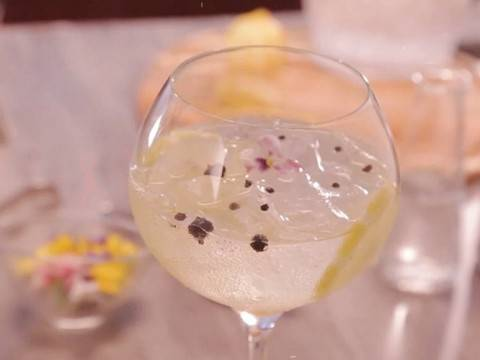 Yuzu Gin and Tonic with Le Fruit de MONIN Yuzu