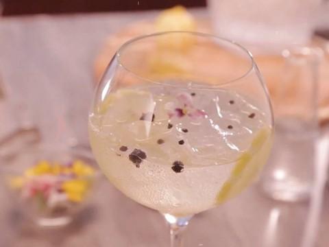 Yuzu Gin and Tonic with Le Fruit de MONIN Yuzu