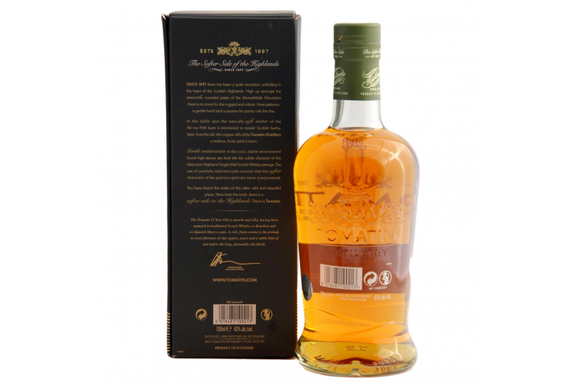 Whisky Malt Tomatin 12 Years 70 Cl