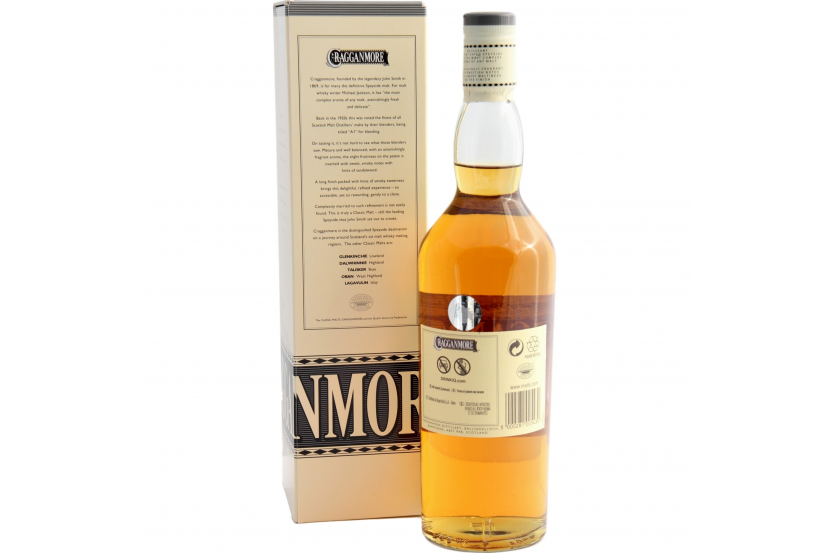 Whisky Malt Cragganmore 12 Anos 70 Cl