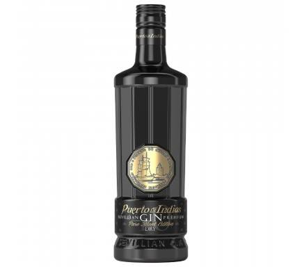 Gin Puerto De Indias Black 70 Cl