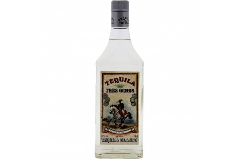 Tequila Tres Ochos Silver 70 Cl