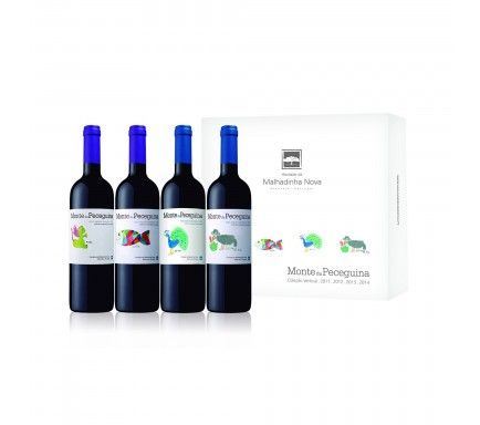 Box 4 Wines (1 Red Monte Peceguina 2011 & 2012 & 2013 & 2014)