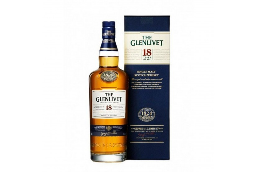 Whisky Malt Glenlivet 18 Anos 70 Cl