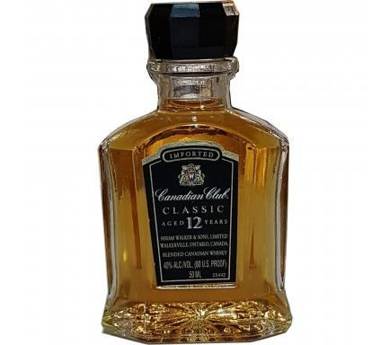 Mini Whisky Canadian Club 12 Anos 5 Cl