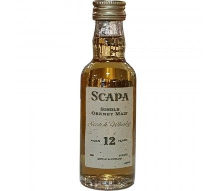 Mini Whisky Malt Scapa 12 Anos 5 Cl