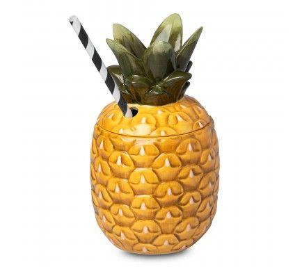 Copo Tiki Ceramic Pineapple 13 Oz / 36 Cl