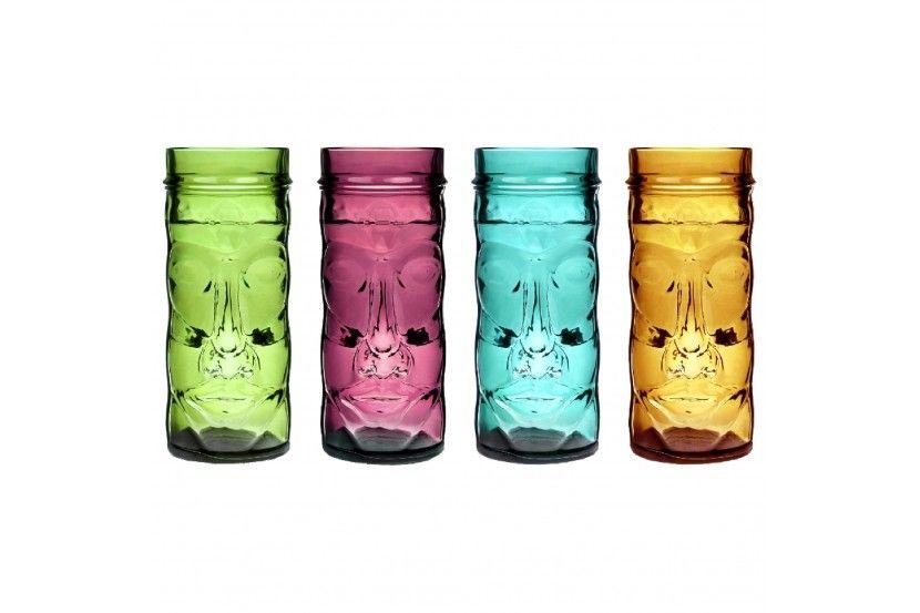 Tiki Coloured Glass