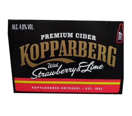 Cidra Kopparberg Morango/Lima 50 Cl  -  (Pack 15)