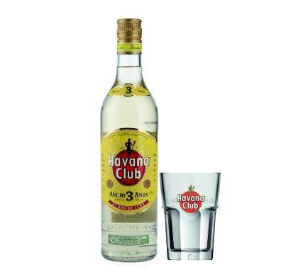 Rum Havana Club 3 Anos 70 Cl Com Copo