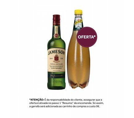 Whisky Jameson 70 Cl Com Oferta Schweppes Ginger Ale 1 L