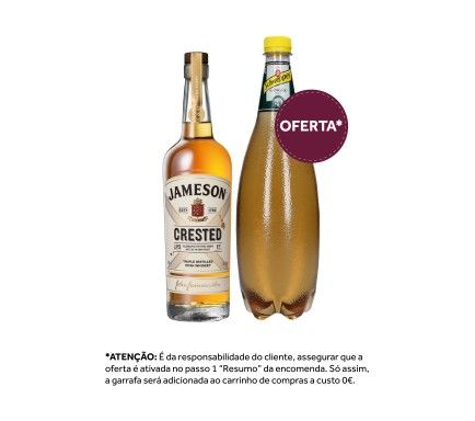 Whisky Jameson Crested 70 Cl Com Oferta Schweppes Ginger Ale 1 L
