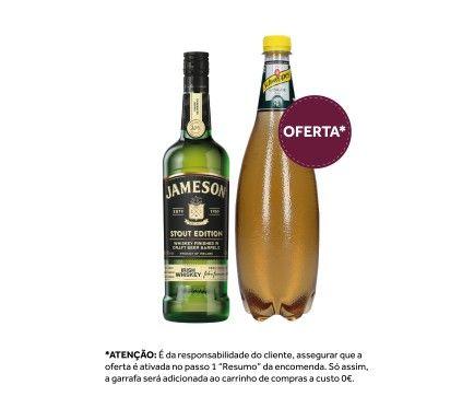 Whisky Jameson Caskmates Stout 70 Cl Com Oferta Schweppes Ginger Ale 1 L