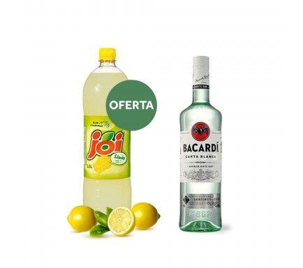 Rum Bacardi 70 Cl Com Oferta Joi Limão 1.5 L