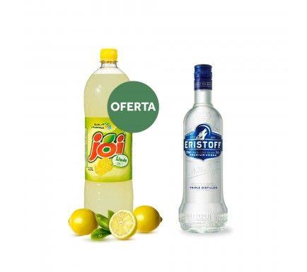 Vodka Eristoff 70 Cl Com Oferta Joi Limão 1.5 L