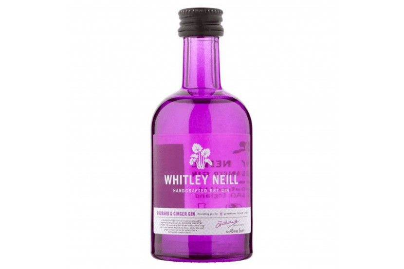Mini Gin Whitley Neill Rhubarb & Ginger 5 Cl