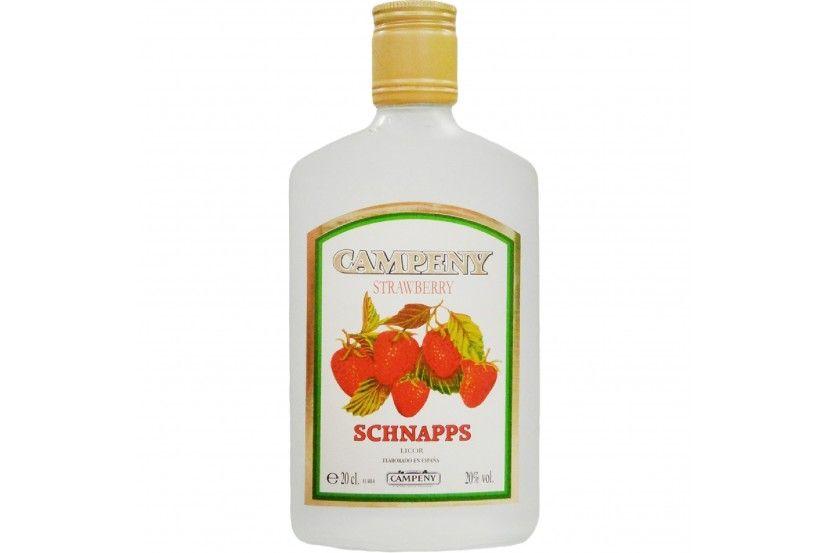 Licor Campeny Schnapps Morango 20 Cl