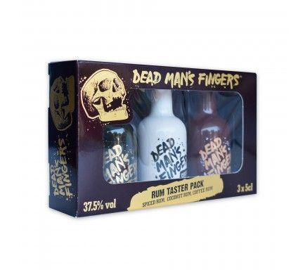 Mini Conj. Rum Dead Man's Fingers (Spiced + Coffee + Coconut) (3 x 5 Cl)